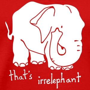 Irrelephant pun red tee shirt men - Men's Premium T-Shirt