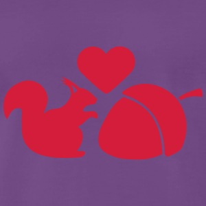 Squirrel Nut Love T-shirts - Mannen Premium T-shirt