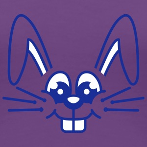 Funny Bunny Face T-shirts - Vrouwen Premium T-shirt