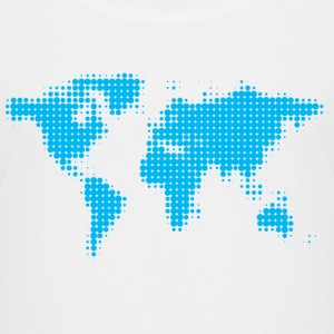 world map blue Shirts - Kids' Premium T-Shirt