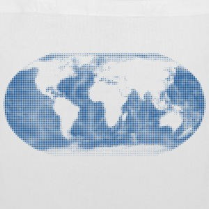 world map blue Bags & backpacks - Tote Bag