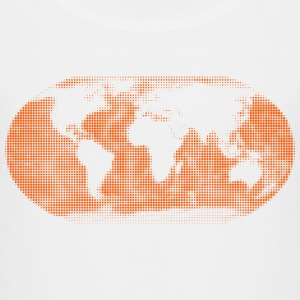 Weltkarte in Punkte-Design in orange T-Shirts - Kinder Premium T-Shirt