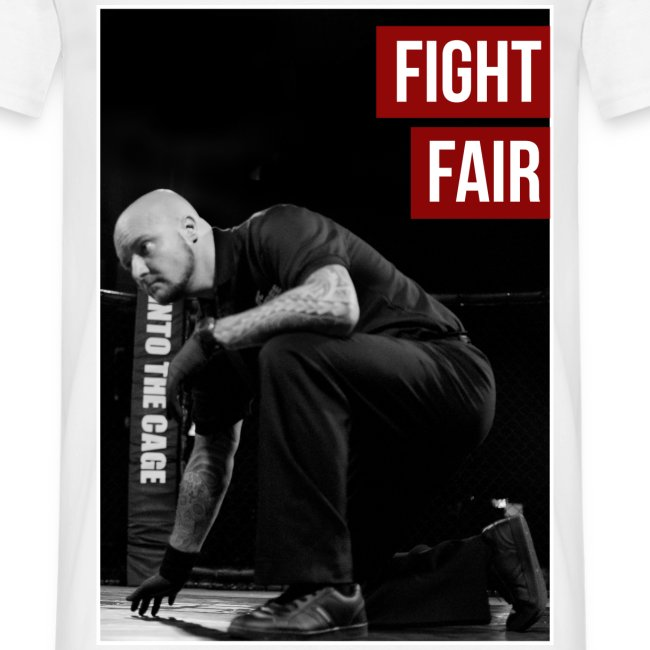Mens MMA Fashion Hipster Tshirt - 'Fight Fair'
