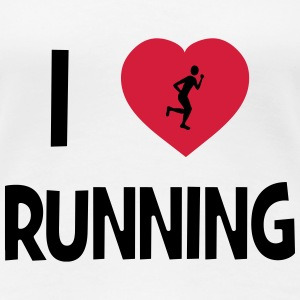 I Love Running T-Shirts - Frauen Premium T-Shirt