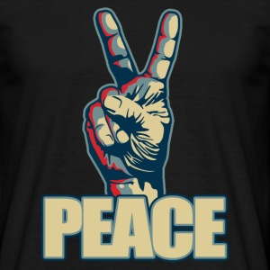 Peace hand sign - T-skjorte for menn