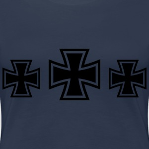 3 Iron Cross T-shirts - Dame premium T-shirt