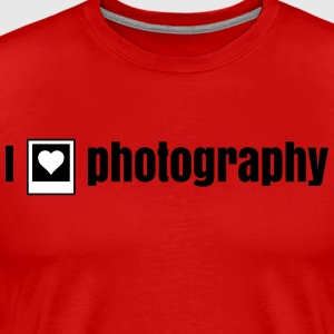 i heart photography - i love photography j'ai le cœur photographie - j'aime la photographie Tee shirts - T-shirt Premium Homme
