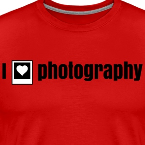 i heart photography - i love photography T-Shirts - Men's Premium T-Shirt