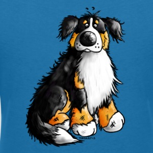 Cute Bernese Mountain Dog - Cartoon  T-Shirts - Women's V-Neck T-Shirt