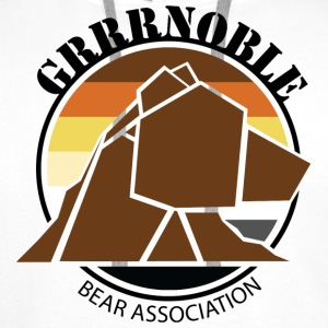 Logo 1 GRRRNOBLE BEAR ASSOCIATION Sweat-shirts - Sweat-shirt à capuche Premium pour hommes