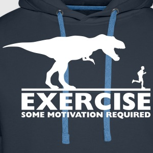 Exercise - some motivation required Pullover & Hoodies - Männer Premium Hoodie