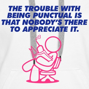 The Trouble With Being Punctual (2c)++2013 Sweaters - Vrouwen Premium hoodie