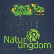 Motiv ~ børne t-shirt, grønt logo, ikke øko
