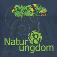 Motiv ~ herre t-shirt, grønt logo, ikke øko