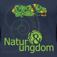 Motiv ~ dame t-shirt, grønt logo, ikke øko