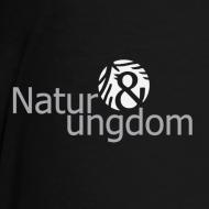 Motiv ~ børne t-shirt, hvidt logo, ikke øko