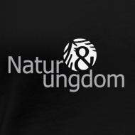 Motiv ~ dame t-shirt, hvidt logo, ikke øko