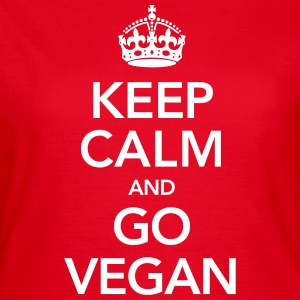 Keeo Calm And Go Vegan Tee shirts - T-shirt Femme