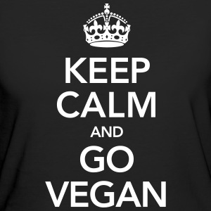 Keeo Calm And Go Vegan T-Shirts - Frauen Bio-T-Shirt