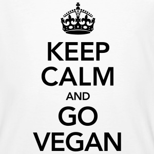 Keeo Calm And Go Vegan T-Shirts - Männer Bio-T-Shirt
