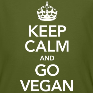 Keep Calm And Go Vegan T-Shirts - Männer Bio-T-Shirt