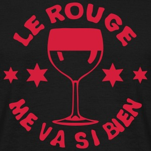 rouge me va si bien alcool apero verre 6 Tee shirts - T-shirt Homme