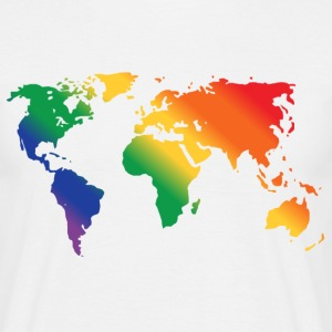 Rainbow World  T-shirts - T-shirt herr