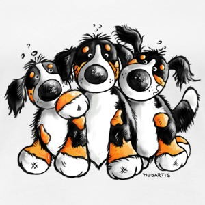 Cute Bernese Mountain Dogs - Cartoon  T-Shirts - Women's Premium T-Shirt