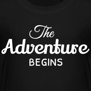 the adventure begins eventyret begynner Skjorter - Premium T-skjorte for barn