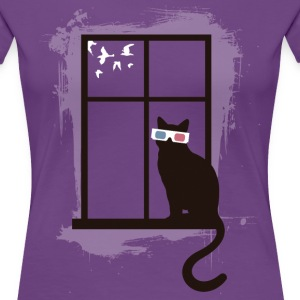 Cinema Cat T-shirts - Premium-T-shirt dam
