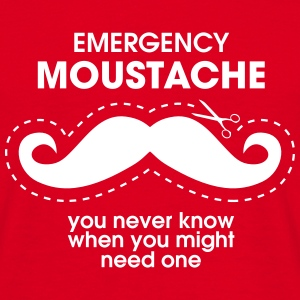 Emergency Moustache T-Shirts - Männer T-Shirt