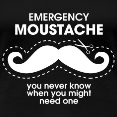 Emergency Moustache Tee shirts