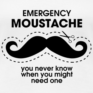 Emergency Moustache T-Shirts - Women's Premium T-Shirt