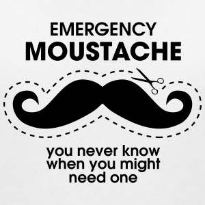 Emergency Moustache T-Shirts - Women's V-Neck T-Shirt