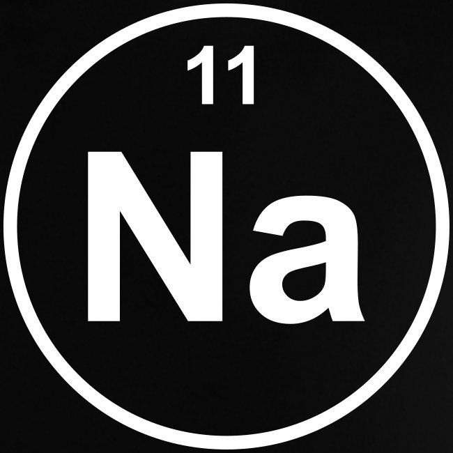 Periodic Table Words Natrium Na Element 11 Minimal Round 1