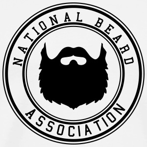 National Beard Association / Mustache Moustache 1c T-Shirts - Männer Premium T-Shirt