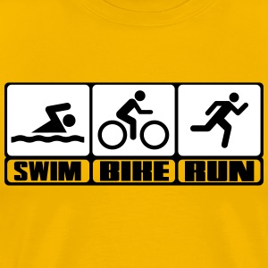 Triathlon - Swim, Bike, Run T-shirts - Herre premium T-shirt
