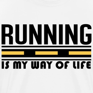 Running is my way of life Koszulki - Koszulka męska Premium