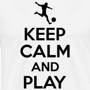 Keep calm and play T-skjorter - Premium T-skjorte for menn