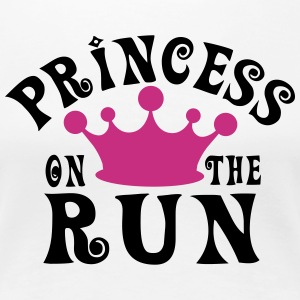 Princess on the run T-shirts - Vrouwen Premium T-shirt