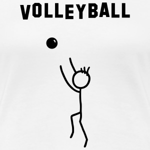 Volleyball player with text T-Shirts - Women's Premium T-Shirt