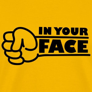 In Your Face Punch T-shirts - Mannen Premium T-shirt