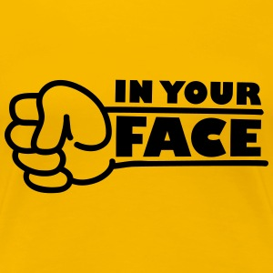 In Your Face Punch T-shirts - Premium-T-shirt dam