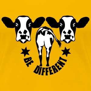 vache be different cow 1 Tee shirts - T-shirt Premium Femme