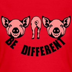 cochon be different pig 1 Tee shirts - T-shirt Femme