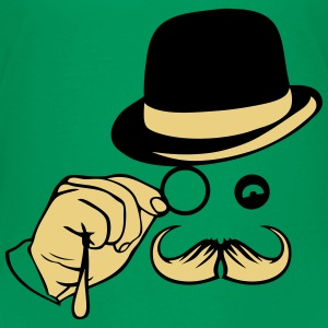 smiley chapeau monocle moustache melon Tee shirts - T-shirt Premium Ado
