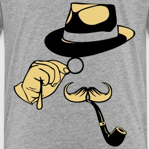 smiley chapeau monocle moustache pipe 1 Tee shirts - T-shirt Premium Ado