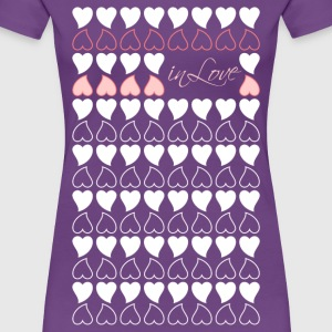 Frauenshirt Herzen in Love - Frauen Premium T-Shirt