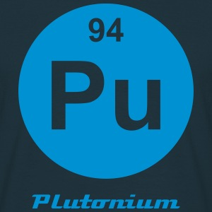 Element 94 - pu (plutonium) - Minimal-inverse T-shirts - Herre-T-shirt