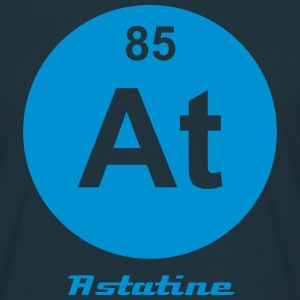 Element 85 - at (astatine) - Minimal-inverse T-shirts - T-shirt herr